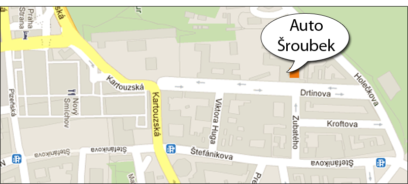 Auto Šroubek, Drtinova 9, Praha 5
